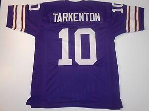 UNSIGNED CUSTOM Sewn Stitched Fran Tarkenton Purple Jersey - M, L, XL, 2XL, 3XL