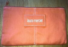 New Laura Mercier Canvas Zippeted Makeup Bag Pouch W/ Nylon/Poly Liner 8� x 5�