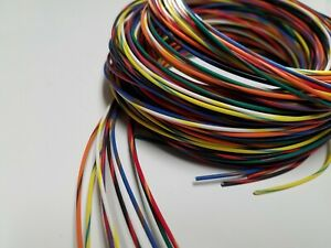 22 AWG TXL HIGH TEMP AUTOMOTIVE  WIRE 8 STRIPED COLORS 5 FT EACH 40 FEET (C)