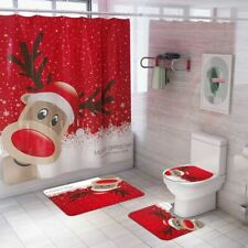 Christmas Decor Bathroom Curtain Mats 2020 for Home Xmas Gifts New Year 2021