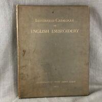 1905 Antico Libro Esposizione Di Inglese Ricamo Textiles Large Colore Piatti