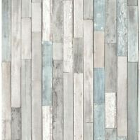 Brewster Barn Board Grey Thin Plank Wallpaper Washable Strippable Woven material
