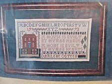 Needle's Prayse THE HEART & HOME SAMPLER Ctd Cross Stitch Chart w/ Danish Thread