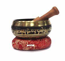Antique Design Om Mani Padme Tibetan Meditation Singing Bowl Set