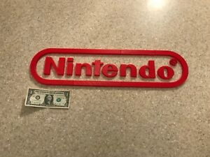 2ft HUGE Nintendo Logo 3d printed wall art decoration