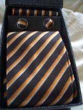 100% Seta Collo cravatte, gemelli e fazzoletto!!!