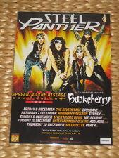 STEEL PANTHER -  AUSTRALIAN  TOUR 2013 -  PROMO TOUR POSTER