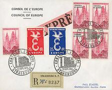 """CE9-PJ1J FDC EXPRÈS-RECO Conseil de l'Europe """"1er Jour - EUROPA"""" 1958"""