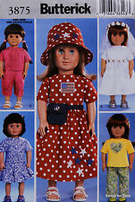 "**SALE** Butterick 3875 Sewing PATTERN for 18"" American Girl DOLL CLOTHES NW OOP"