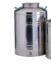 ACCIAIO Inox Serbatoio / contenitore per l'olio d'oliva, vino, ecc.. detiene il 50 LITRI