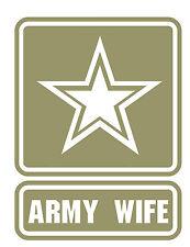 Custom Vinyl Army Wife Car Window or Laptop Decal / Sticker