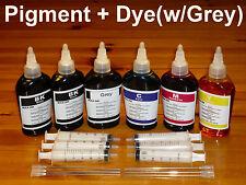 Bulk refill Pigment / Dye ink Canon printer (PG BK, Dye-BK, Grey, C, M, Y) Gray