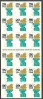 United States Scott  2531a, the 29 cent Torch booklet pane of 18 stamps