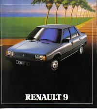 RENAULT 9 TSE GTS auto GTL TL TCE C 1981-82 originale allemande la brochure commerciale