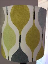 Retro Lampshade Mustard Grey Lime Prestigious Verve Mimosa Fabric Retro 20cm