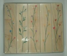 Fanciful Filaments Wood Mounted Rubber Stamps, Hero Arts, LL973, Flowers, NEW