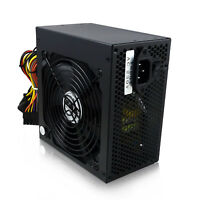 Noir 500 W 12 cm silent fan atx alimentation pc ordinateur psu 500 watt SATA 24