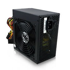 Noir 500 W 12 cm silent fan atx alimentation pc ordinateur psu 500 watt SATA 24