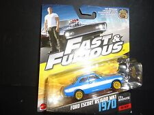Hot Wheels Ford Escort RS1600 MKI Blue Fast and Furious 1/55