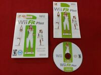 NINTENDO Wii GAME - Wii FIT PLUS - COMPLETE -2007 - FOR BALANCE BOARD FREE SHIP