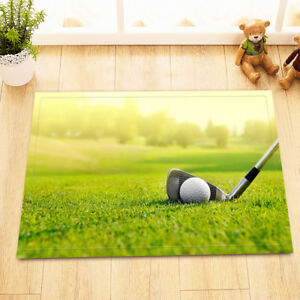 Golf Sports Non-skid Indoor Bathroom Home Decor Mat Carpet Door Floor Area Rug