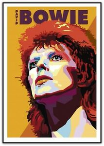 David Bowie Art Print 2016 Ziggy Stardust
