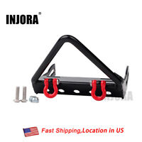Metal Front Bumper with Winch Mount Shackles for 1:10 Axial SCX10 RC Crawler