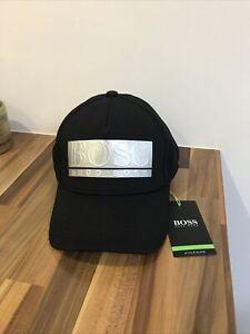 Hugo Boss Black Logo Cap Raised Baseball Cap Mens Hat One Size Brand New Genuine