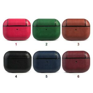 For Apple AirPod Pro  Cover Hard Case Leather With Anti Lost Keychain Holder