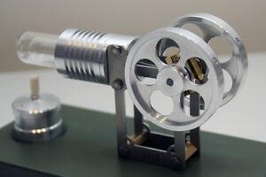 MANSON Stirling engine jabama Stirlingmotor Heissluftmotor Modell Holzkiste