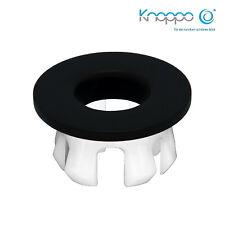 KNOPPO® Waschbecken Messing Abdeckung,Metall Überlaufblende - Eye black matt