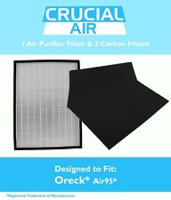 Designed to Fit Oreck OptiMax® Air 95, Includes 1 Air Filter & 2 Carbon Filters