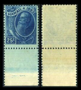 79 HAWAII 25c Deep Blue SANFORD DOLE Margin Single MNH  $50 SEE PHOTOS Lot K-598