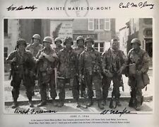 Band of Brothers Easy Company 101st AB Paratroopers St. Marie-du-Mont 4 veterans