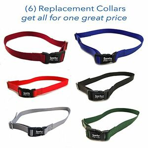 """3/4"""" SOLID Boy Dog Colors Receiver Replacement Straps- Set of 6 Wireless Straps"""
