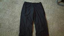 Womens Nike Capri Athletic Pants Size S Mesh Lined Solid Black Fitness NICE!