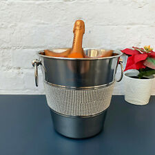 Diamante Bling Diamond Metal Tub Wine Champagne Bottle Holder Ice Cooler Bucket