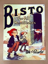 Bisto For All Meat Dishes - Tin Metal Wall Sign