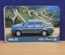 1x Sticker - aufkleber Alfa Romeo ALFA 75 with org.back 80's (0841)