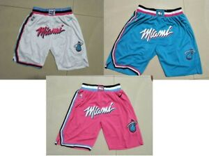 Miami Heat Shorts Pink White blue