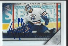 Ty Conklin Signed 2005/06 Upper Deck Card #74