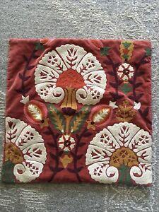 Pottery Barn Brushed Velvet Ikat Pillow Cover