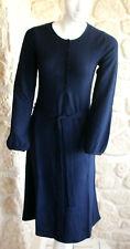 Robe bleue marine neuve taille S marque Terry Lane 100% cachemire (sg)