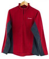 BERGHAUS Men Zip Neck Jumper Sweater Cardigan Size L PZ565