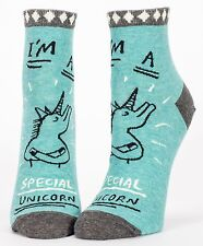 I'm A Special Unicorn Blue-Q Ankle Socks New Women Hosiery Size 9-11 Unique