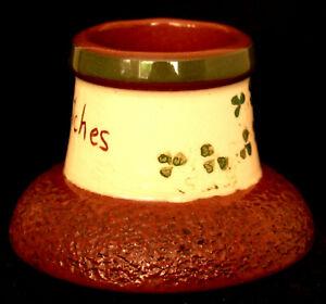 Vintage Irish Carrig Ware Match Holder and Strike - Carrigaline Pottery