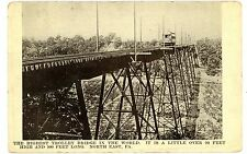 North East PA - HIGHEST TROLLEY BRIDGE IN THE WORLD - Postcard