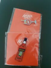 Aperol Spritz Pin SET OF 2 Bottle Italian Orange Cocktail Collectable NEW!