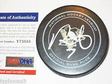 PAUL MARTIN signed Pittsburgh PENGUINS Official GAME Puck w/ PSA COA