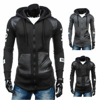 Men Slim Fit Athletic Gym Muscle Hoodies T-shirt Tops Hooded Zipper Coat Outwear